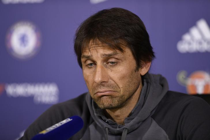 Britain Football Soccer - Chelsea - Antonio Conte Press Conference - Chelsea Training Ground - 28/4/17 Chelsea manager Antonio Conte during the press conference Action Images via Reuters / Tony O'Brien Livepic/Files