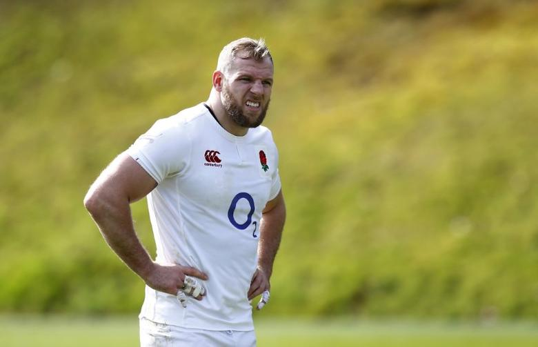 Britain Rugby Union - England Training - Pennyhill Park, Bagshot, Surrey - 9/3/17 England's James Haskell during training Action Images via Reuters / Peter Cziborra Livepic