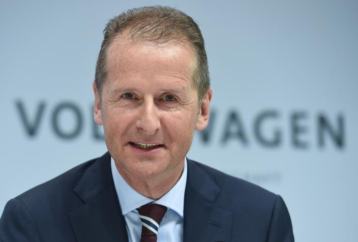 German carmaker Volkswagen board member Herbert Diess attends the company's annual news conference in Wolfsburg, Germany, March 14, 2017.      REUTERS/Fabian Bimmer