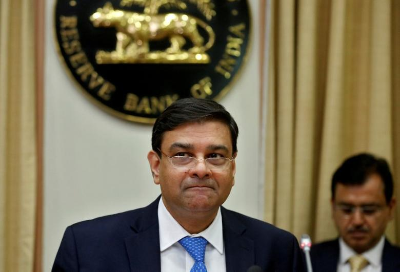 FILE PHOTO: The Reserve Bank of India (RBI) Governor Urjit Patel attends a news conference after the bi-monthly monetary policy review in Mumbai, India April 6, 2017. REUTERS/Shailesh Andrade/File photo