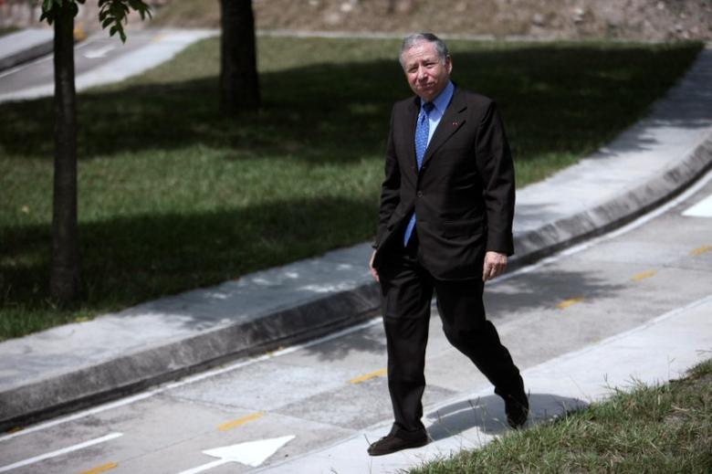 Federation Internationale de l'Automobile (FIA) President Jean Todt arrives to an event to promote road safety awareness for children as part of the #SaveKidsLives project, in Tegucigalpa, Honduras, August 11, 2016. REUTERS/Stringer