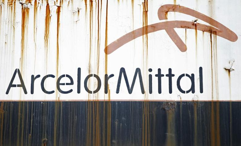 Steel factory ArcelorMittal's logo is seen on an old train in Zenica, Bosnia and Herzegovina, February 9, 2016. REUTERS/Dado Ruvic