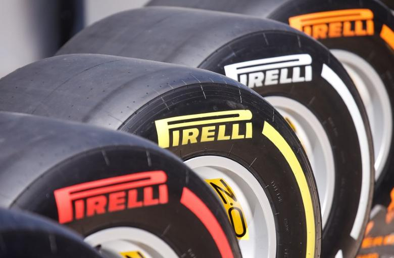 Formula One - F1 - Russian Grand Prix - Sochi, Russia - 29/04/17 - Pirelli tyres on display in paddock area. REUTERS/Maxim Shemetov