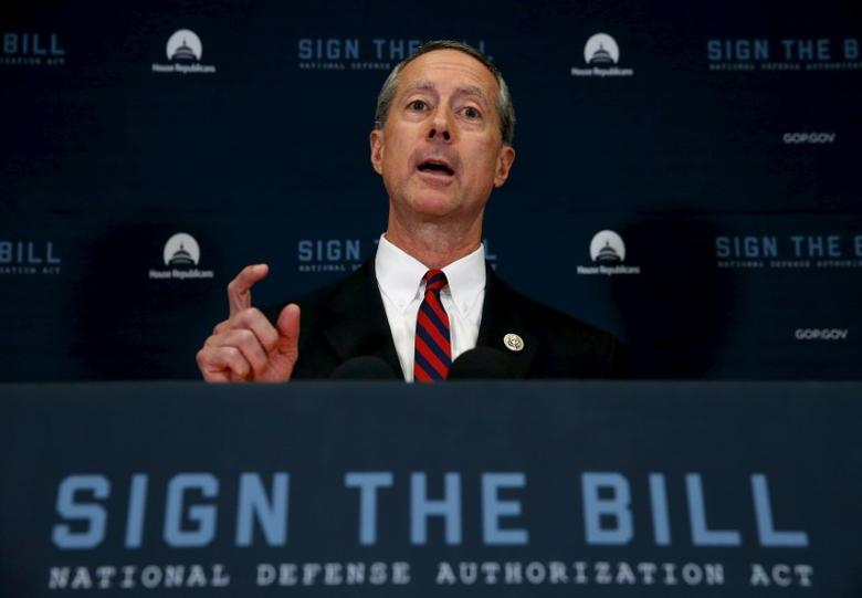 FILE PHOTO: U.S. Representative Mac Thornberry (R-TX), chairman of the House Armed Services Committee, addresses a news conference following a House Republican caucus meeting at the U.S. Capitol in Washington, October 21, 2015.  REUTERS/Jonathan Ernst
