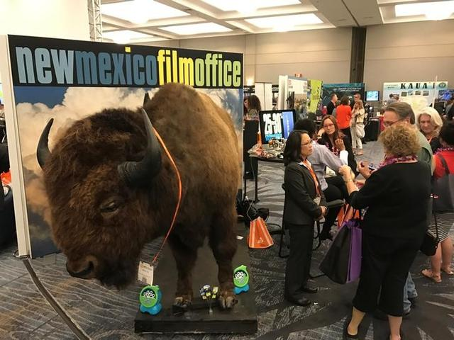 The New Mexico Film Office touts its production incentives at a conference hosted by the Association of Film Commissioners International in Burbank, California, U.S. on April 7, 2017.  REUTERS/Lisa Richwine