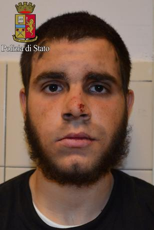 A handout photo released by Italian Police of Ismail Hosni, who attacked a policeman and two army officers on Thursday night after they asked to see his identity papers, Milan, Italy, May 19, 2017.  Italian Police/Handout via REUTERS