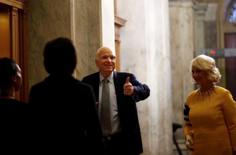 In hero's return, McCain blasts Congress, tells senators to stand up to Trump