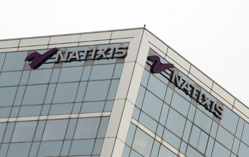 The logo of French bank Natixis is seen outside of one of their offices in Paris, France, January 24, 2017. Jacky Naegelen