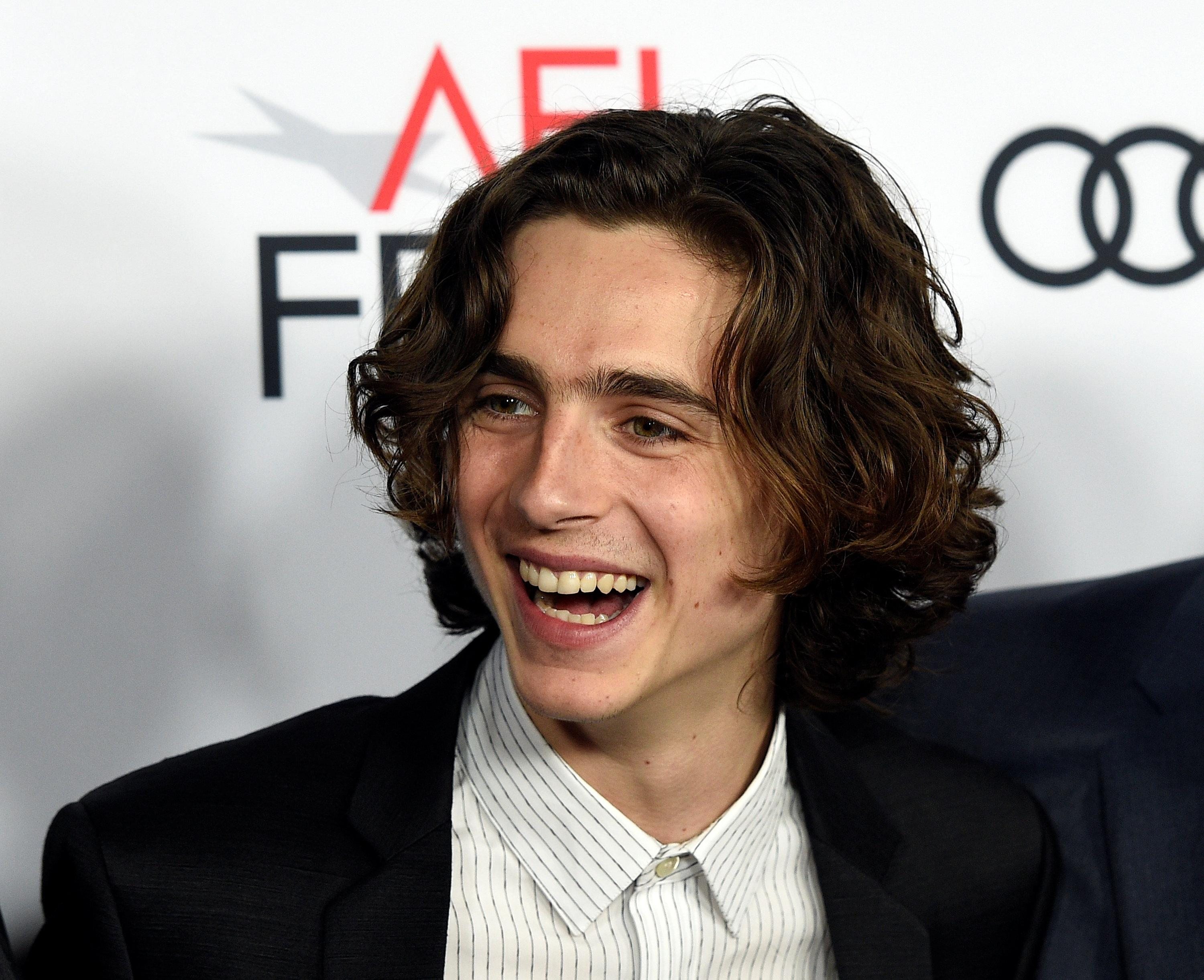 Cast member Timothee Chalamet attends the premiere of