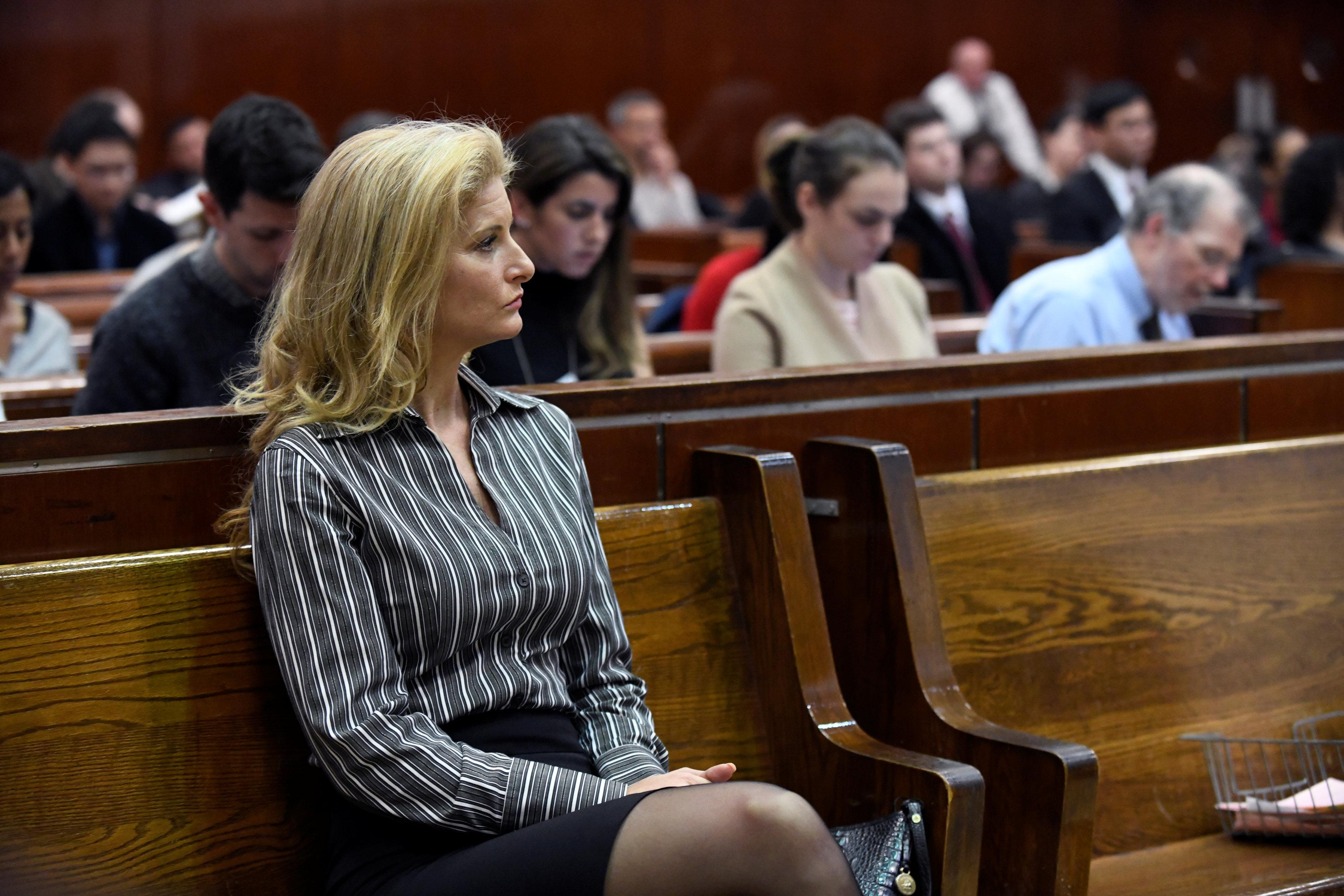 Summer Zervos, a former contestant on The Apprentice, appears in New York State Supreme Court during a hearing on a defamation case against U.S. President Donald Trump in Manhattan, New York, U.S., December 5, 2017. Barry Williams/Pool