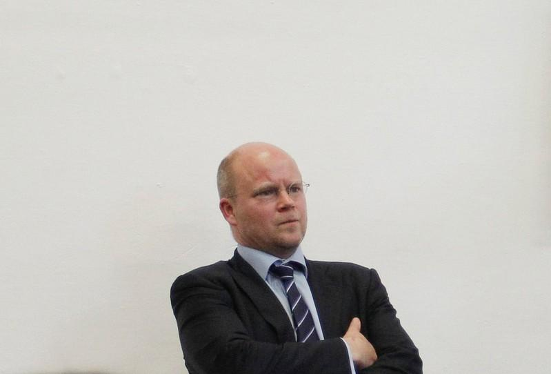 Toby Young, shown here at the opening of the West London Free School in 2011, resigned as a board member for a new UK Office for Students after a furor over comments he made as an opinion columnist. Luke MacGregor