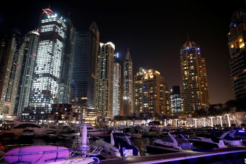 Yachts dock at the Dubai Marina in Dubai, UAE. Dec. 11, 2017. Amr Abdallah Dalsh