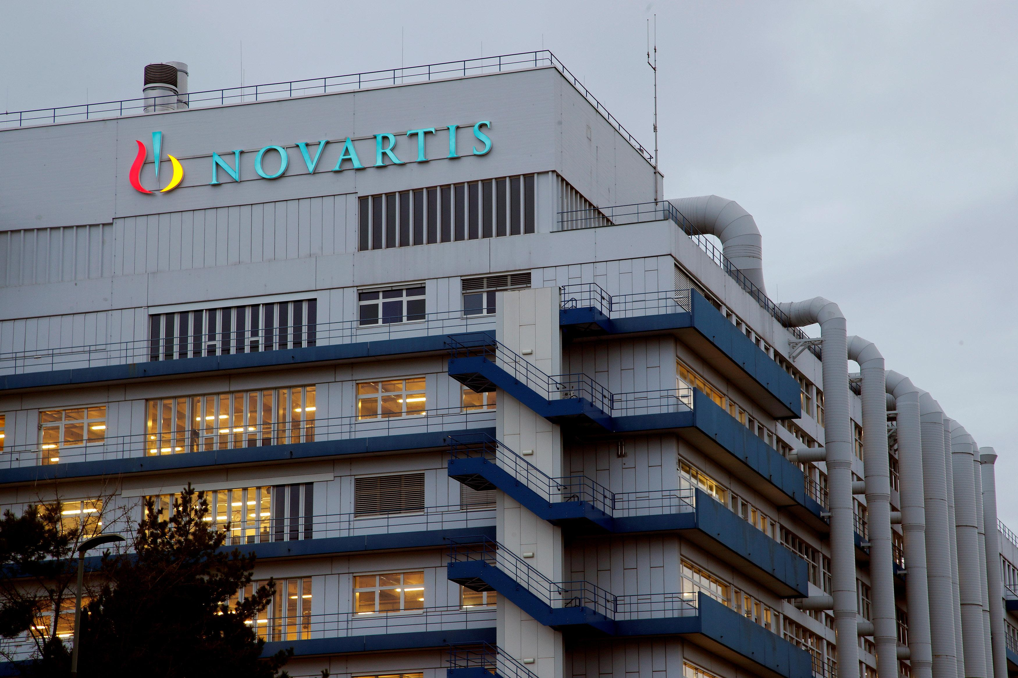 Logo of Swiss drugmaker Novartis is seen at its branch in Schweizerhalle near Basel, Switzerland, March 29, 2018. Arnd Wiegmann