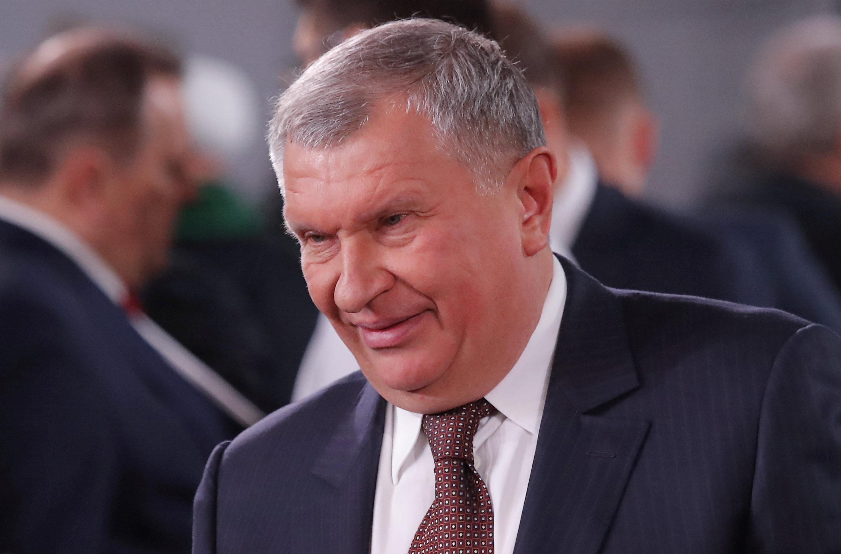 Rosneft Chief Executive Igor Sechin is seen before Russian President Vladimir Putin's annual state of the nation address to the Federal Assembly in Moscow, Russia March 1, 2018. Maxim Shemetov