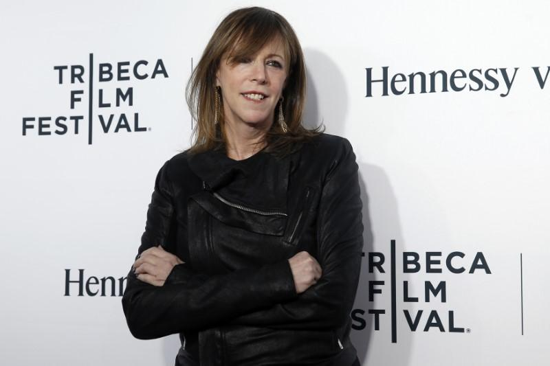Jane Rosenthal, co-founder of the Tribeca Film Festival, poses on red carpet upon arriving for the 2014 Tribeca Film Festival opening night screening of 'Time Is Illmatic' in New York April 16, 2014. Shannon Stapleton