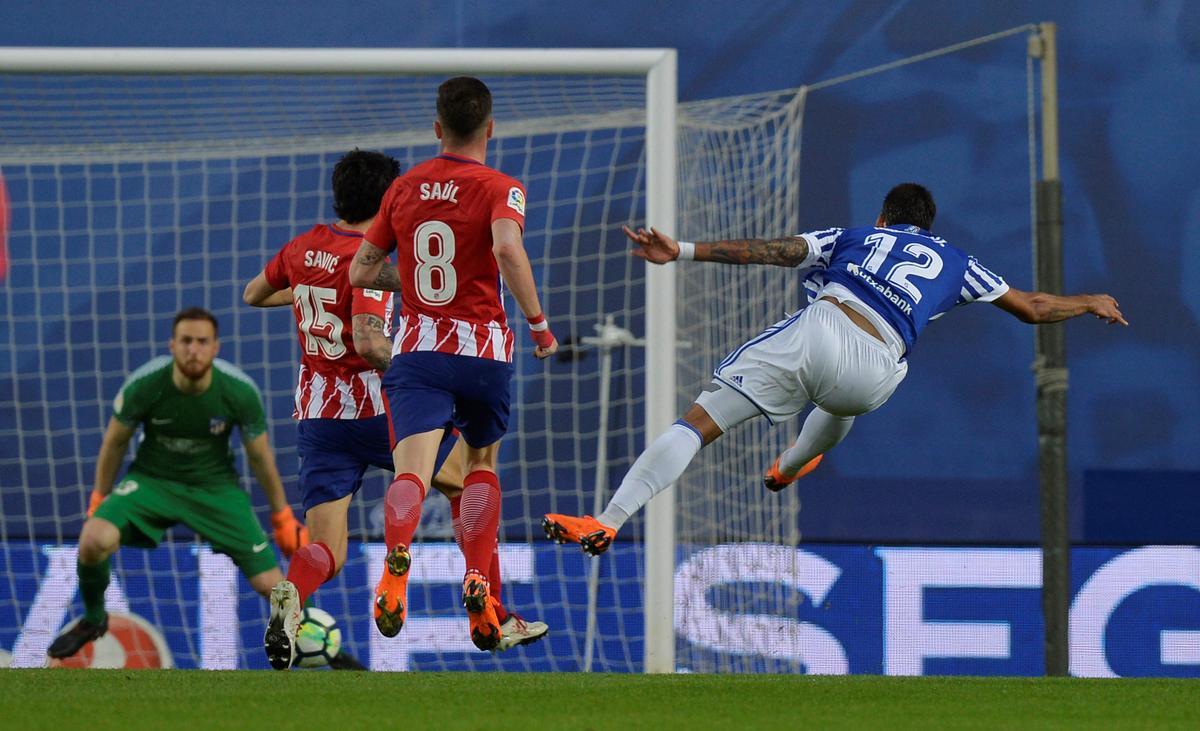 Soccer: Sociedad thrash Atletico to leave Barca on brink of title