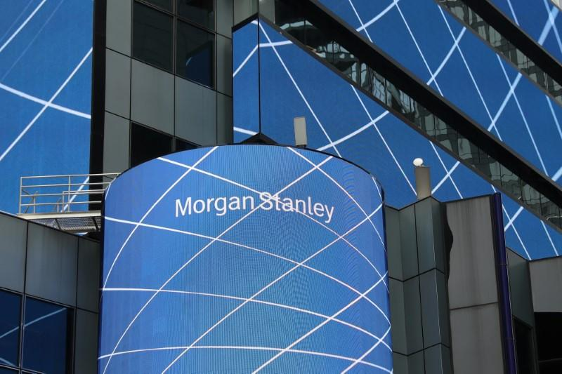 The corporate logo of financial firm Morgan Stanley is pictured on the company's world headquarters in New York, U.S. April 17, 2017. Shannon Stapleton