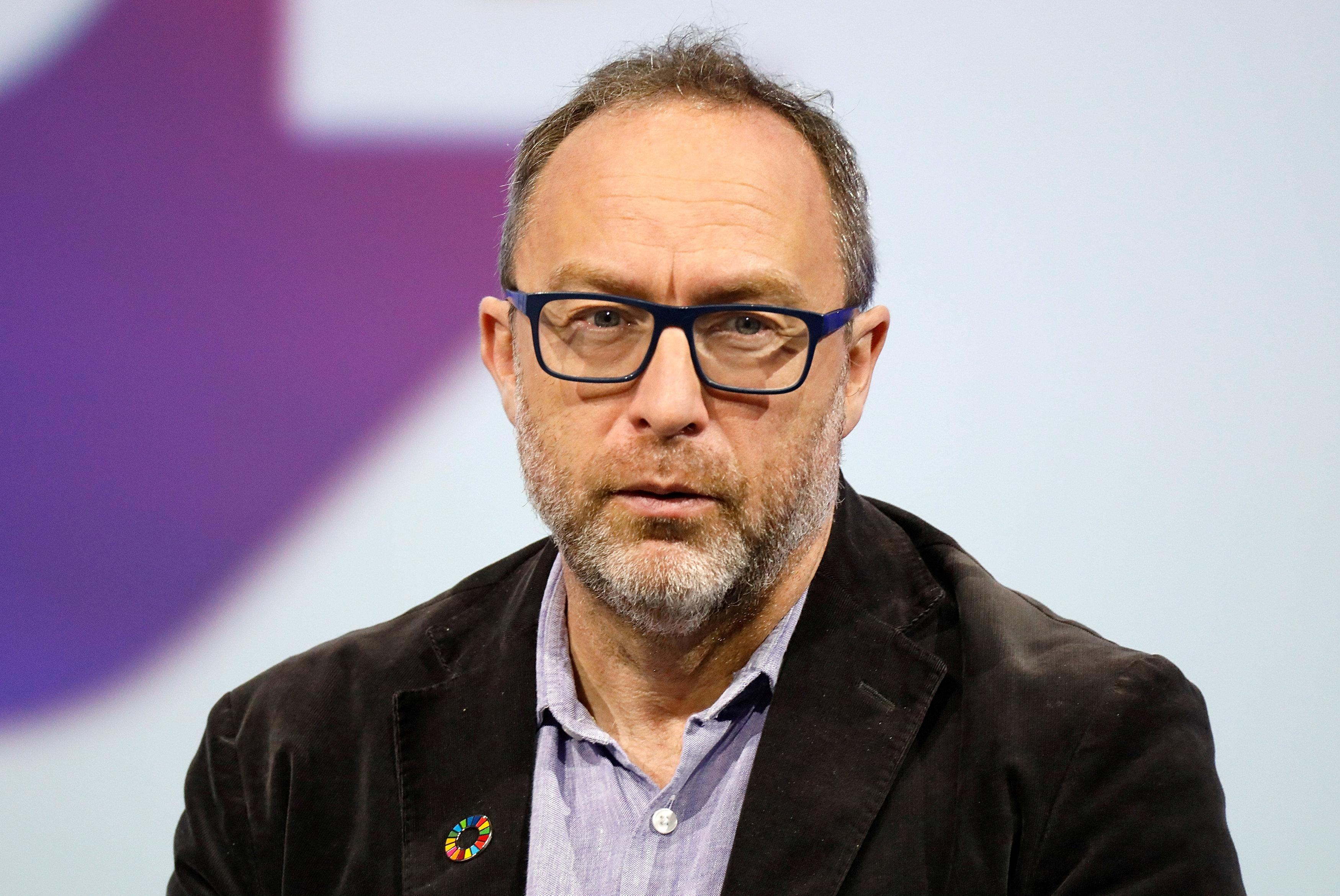 Wikipedia founder Jimmy Wales, attends the Viva Tech start-up and technology summit in Paris, France, May 24, 2018. Charles Platiau