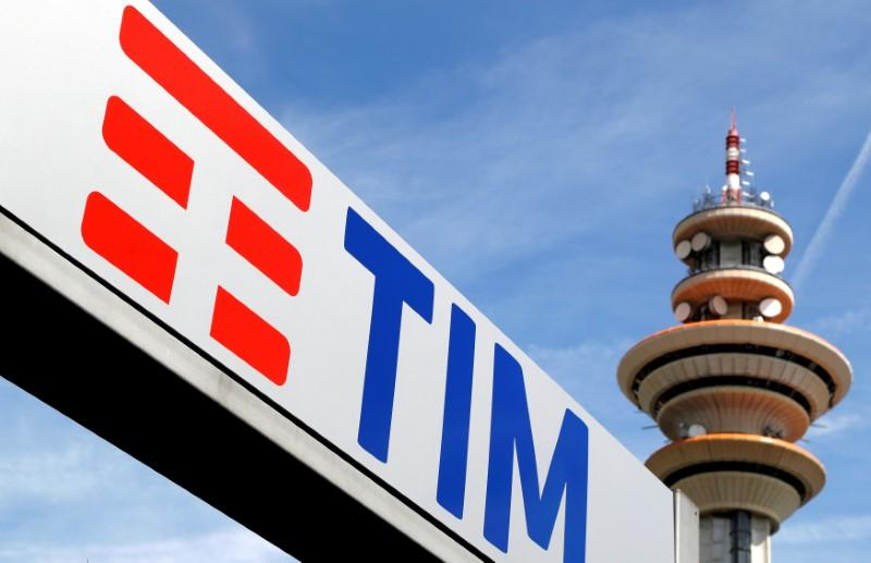 Telecom Italia logo is seen at the headquarters in Milan, Italy, May 25, 2016.    Stefano Rellandini