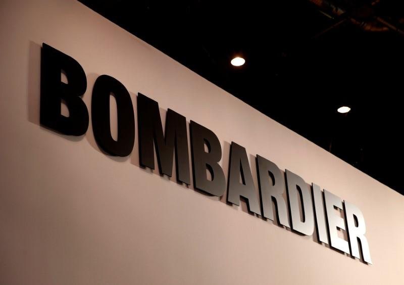 A Bombardier logo is pictured during the European Business Aviation Convention & Exhibition (EBACE) at Geneva Airport, Switzerland May 28, 2018. Denis Balibouse