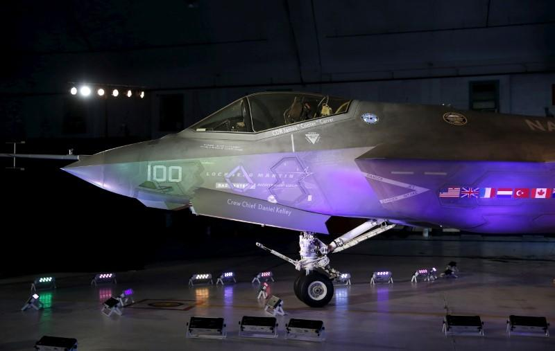 A Lockheed Martin F-35 Lightning II fighter jet is seen in its hanger at Patuxent River Naval Air Station in Maryland, U.S., October 28, 2015.     Gary Cameron - RC1A0CFAC9C0
