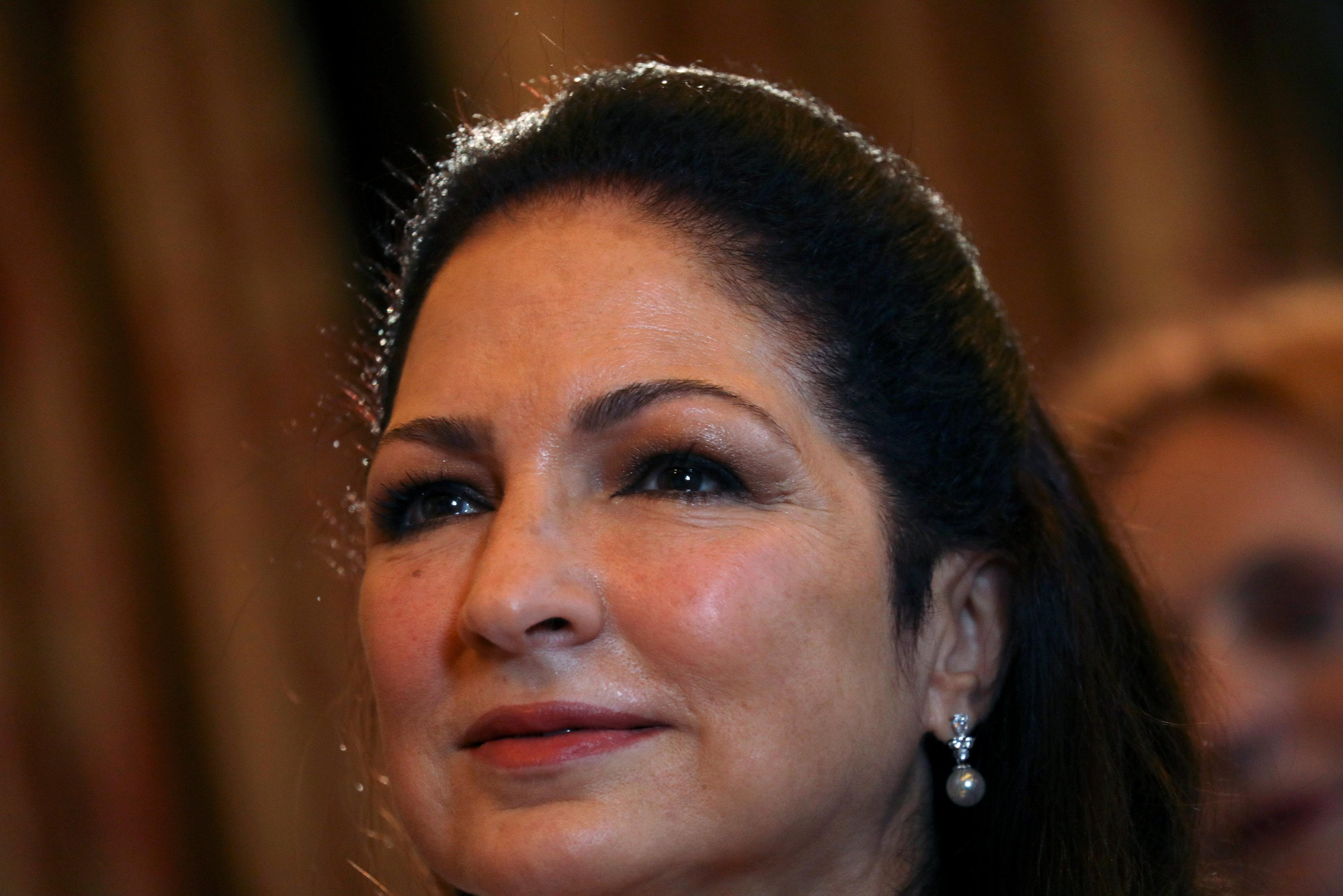 Cuban-American singer Gloria Estefan waits to be awarded with Spain's Gold Medal of Merit for the Arts from Spain's Culture Minister Jose Guirao Cabrera in Madrid, Spain, July 23, 2018. Susana Vera