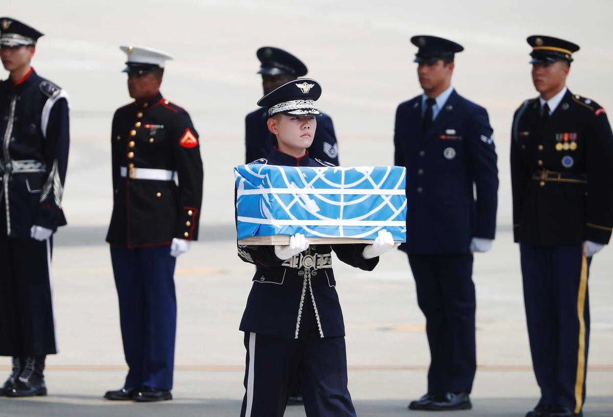 North Korea transfers remains of Korean War soldiers: White House