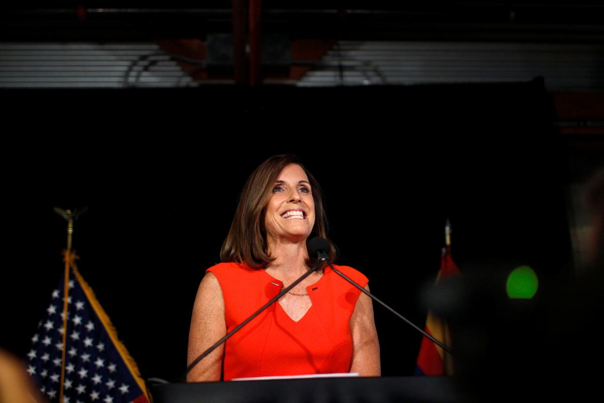 In Arizona Senate race, Republican's embrace of Trump carries risks
