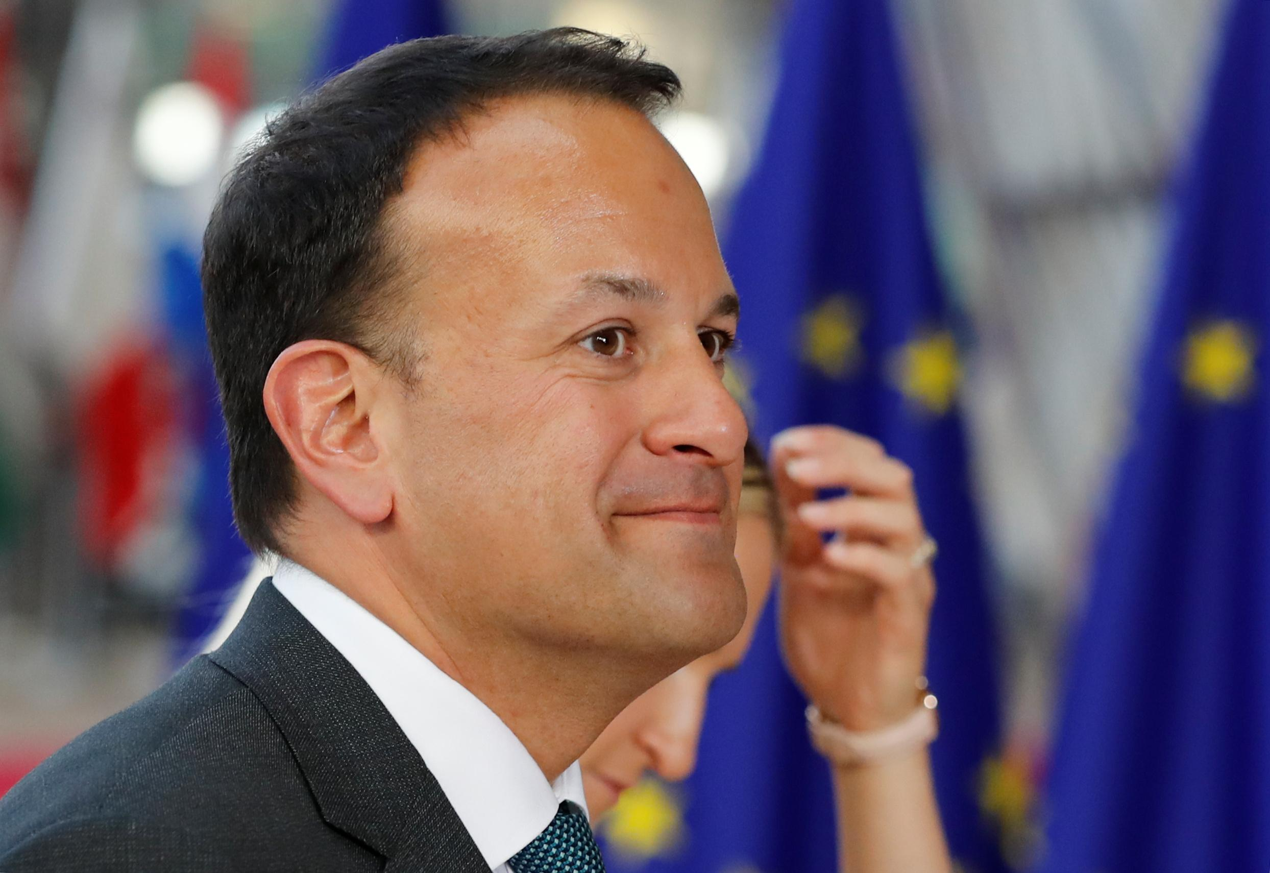Irish Prime Minister Leo Varadkar arrives at an European Union leaders summit in Brussels, Belgium, June 28, 2018. Yves Herman