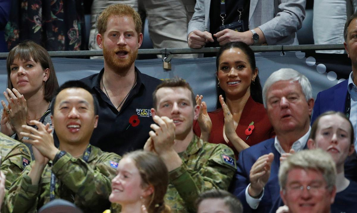 Britain's Prince Harry and wife Meghan attend final day of Invictus Games in Sydney