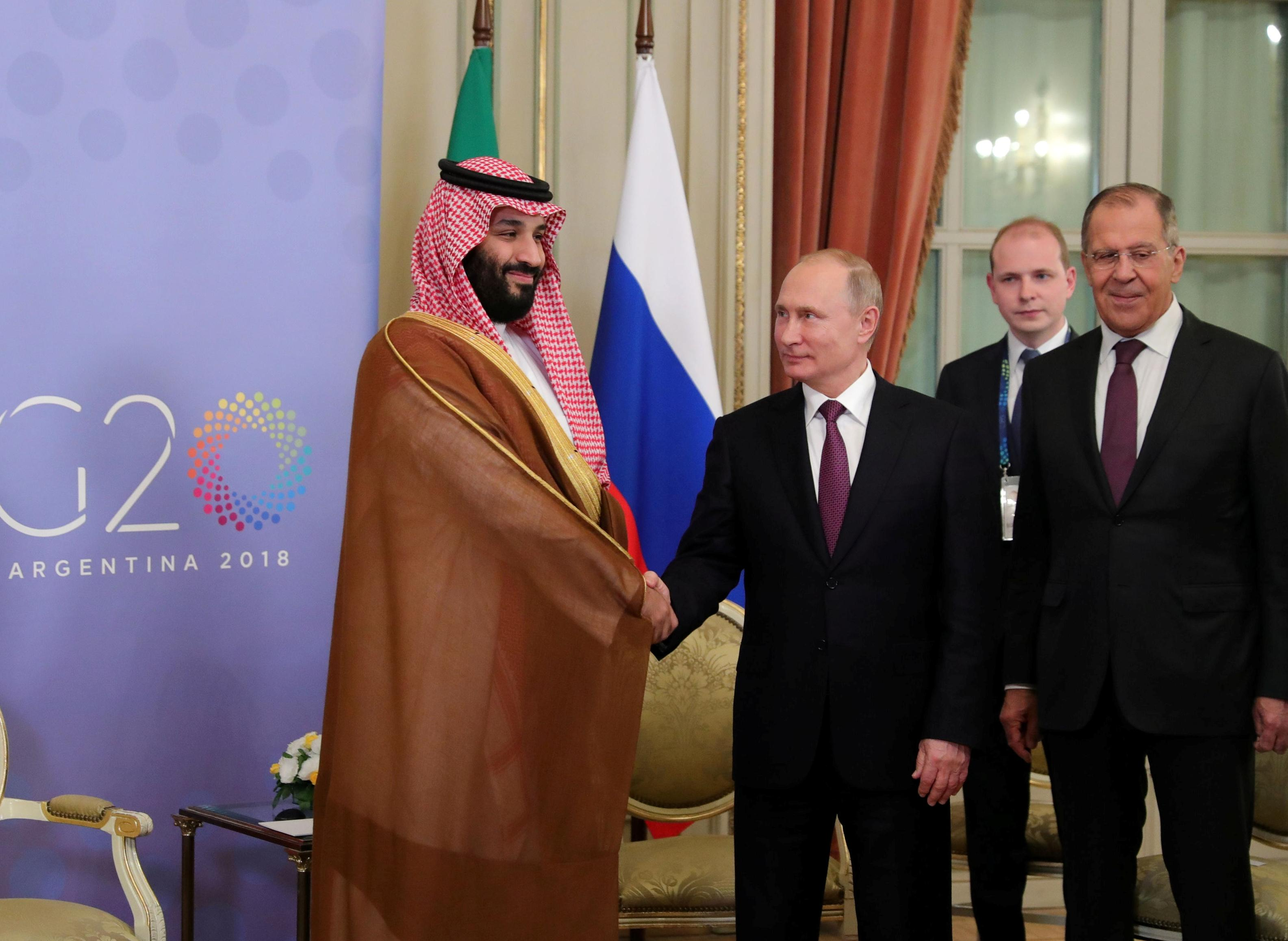 Saudi Crown Prince meets Russia's President Putin; discusses oil market rebalancing