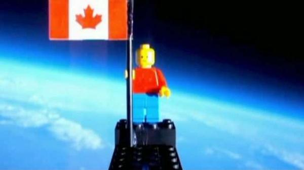 Students launch Lego man into space