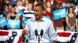 Obama makes first official campaign stop