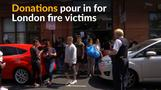 Volunteers rally to help London fire victims
