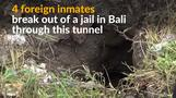 Four foreign inmates escape Indonesian jail through a tunnel