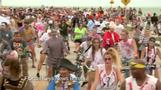 Thousands dress up for 'Zombie Bike Ride' in Florida's Key West