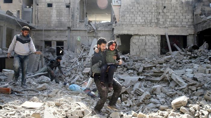 """Syria's Ghouta residents """"wait to die"""" as more bombs fall"""
