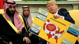 Trump praises military sales in talks with Saudi crown prince