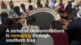 Iraqis protesters in the south seek better services, jobs