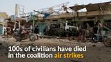 Dozens, including children, dead in Yemen air strikes