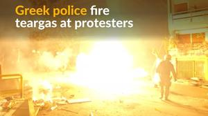 Greek police clash with protesters