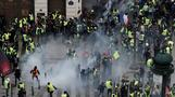 Tear gas and clashes hit Paris for fourth week