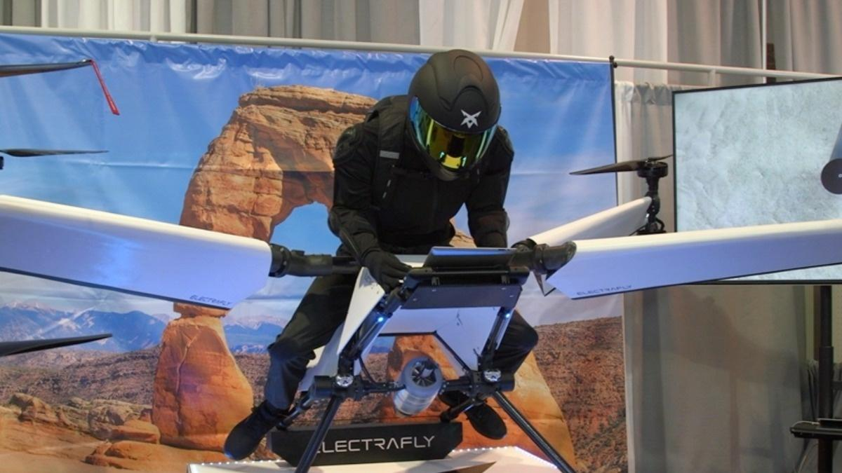 The flight path for drones unveiled at CES