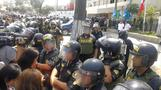 Protesters gather after reported death of Peru's Garcia