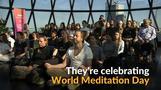 Londoners meditate sky high