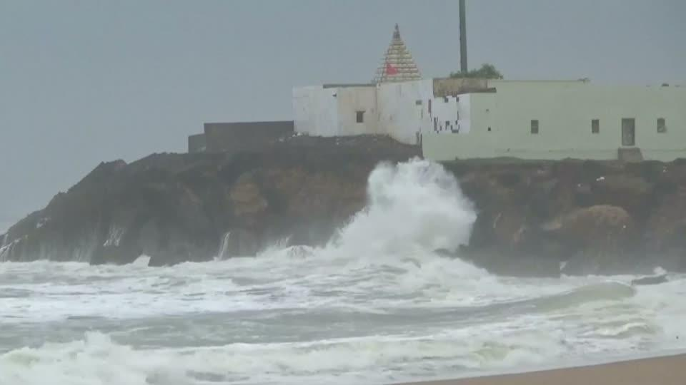 Evacuations in India before cyclone Vayu hits