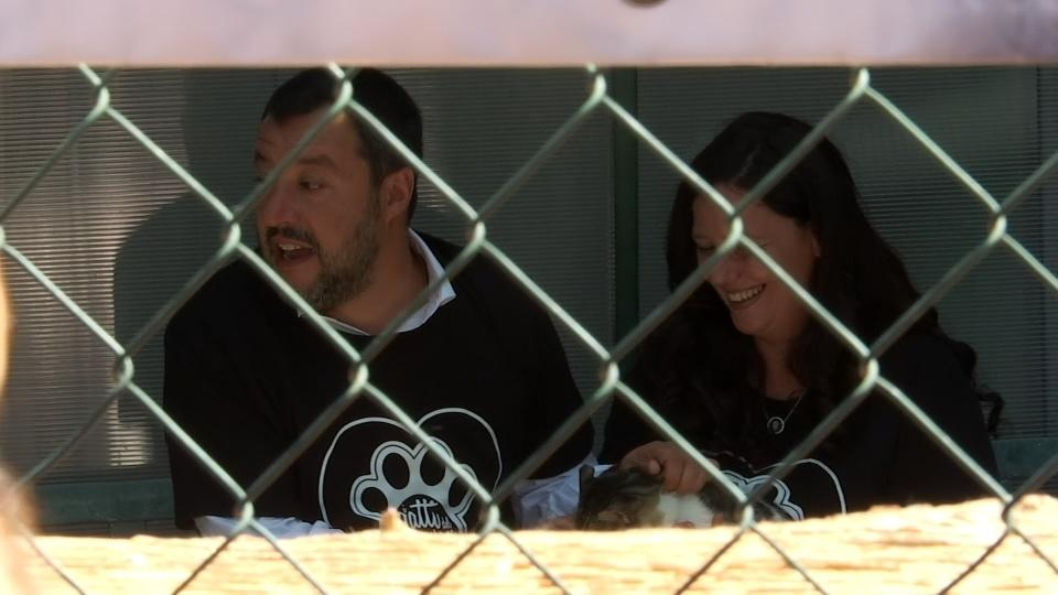 Italy's Salvini criticizes new European Commission on cattery tour