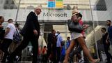 Cloud lifts Microsoft shares to record highs