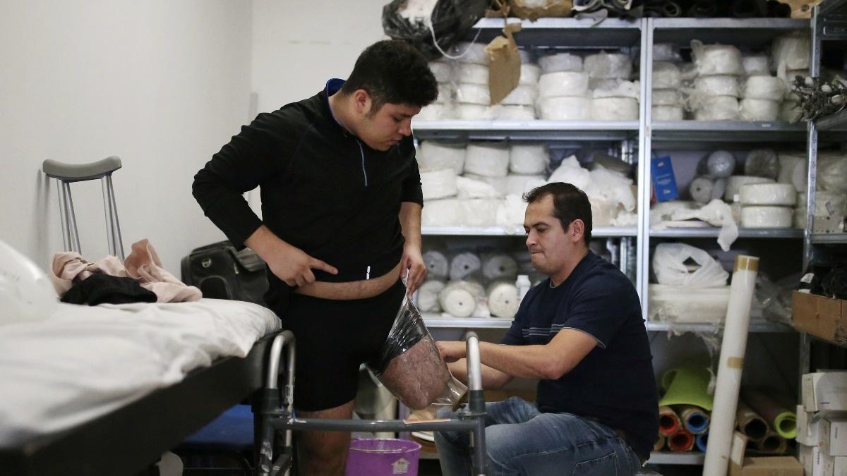 Victims of 'La Bestia' learn to walk again