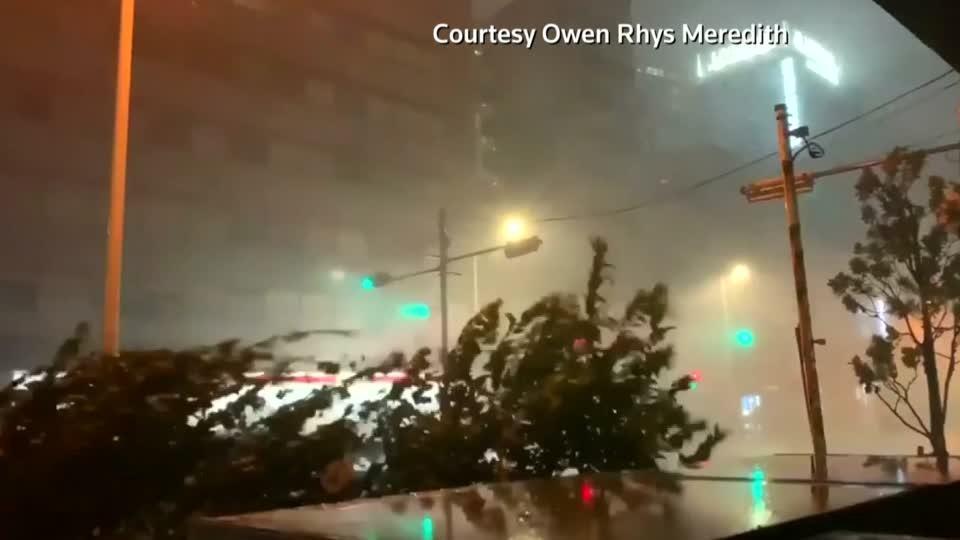 Typhoon Faxai hits Japan